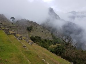 Wayna Piccu wrapped in cloud blanket